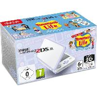 Consoles Console New Nintendo 2DS XL BlancLavande et Tomodachi Life Preinstalle