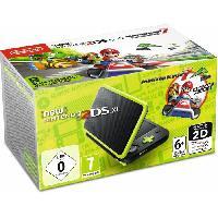 Consoles Console New Nintendo 2DS XL NoirCitron Vert et Mario Kart 7 preinstalle