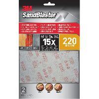 Consommable 3M SANDBLASTER Lot de 2 Feuilles abrasives - 17.7 x 11.4 cm - Grain : 220