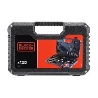 Consommable BLACK et DECKER Coffret percage vissage avec 120 accessoires