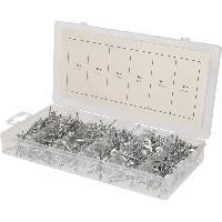Consommable BRILLIANT Assortiment de rivets acier. 400 pieces