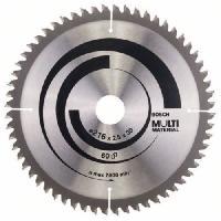 Consommable Lame de scie circulaire au carbure BOSCH PROFESSIONAL 216 x 30 x 2.5 mm -60 dents- - Multimateriaux