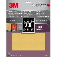 Consommable NO SLIP GRIP Feuille Abrasive antiderapante - 228 x 279 mm - Grain - 100
