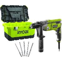 Consommable RYOBI Perceuse a percussion 1010W + 5 forets + Toolbox - Aeg Powertools