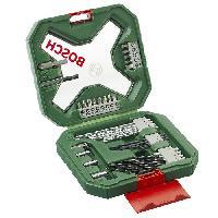 Consommable Set mixte percage - vissage Bosch - Coffret X-Line Classic de forets et d'embouts de vissage. 34 pieces