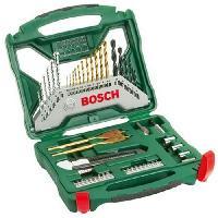 Consommable Set mixte vissage-percage Bosch - Coffret X-Line Titane de forets et d'embouts de vissage. 50 pieces