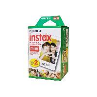 Consommables Bi-Pack - 20 Films - Fujifilm Instax Mini couleur a développement instantané instax mini ISO 800