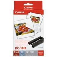 Consommables CANON KC-18IF Kit cartouche et papier photo - 18 impressions - Format carte de crédit autocollant 5.4 × 8.6 cm