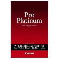 Consommables CANON Pack de 1  Papier photo pro platinum 300g/m2 - PT-101  -  A3+ - 10 feuilles