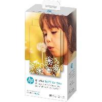 Consommables HP Sprocket Studio 4x6  - Papier Photo format 10x15cm et cartouches HP - Pack de 80 feuilles - Finition glacée - 240 g/m²