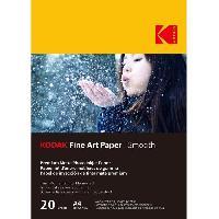 Consommables KODAK - 20 feuilles de papier photo 230g-m2. mat. Format A4 -21x29.7cm-. Impression Jet d'encre effet lisse - 9891092