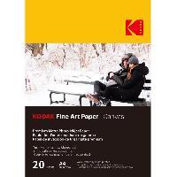Consommables KODAK - 20 feuilles de papier photo 230g-m2. mat. Format A4 -21x29.7cm-. Impression Jet d'encre effet toile - 9891090