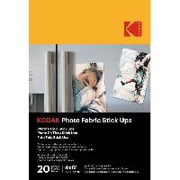 Consommables KODAK - 20 feuilles de papier photo adhésif. Format A6 (10x15cm). Impression Jet d'encre - 9891059