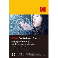 Consommables KODAK - 50 feuilles de papier photo 230g-m2. mat. Format A6 -10x15cm-. Impression Jet d'encre effet lisse - 9891093