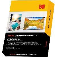 Consommables KODAK - Cadre transparent. Format A6 -10x15cm- avec 5 feuilles de papiers photos et une feuille magnetique. Impression Jet d'encre