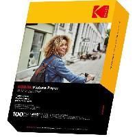 Consommables KODAK 9891164 - 100 feuilles de papier photo 230g-m2. brillant. Format A6 -10x15cm-. Impression Jet d'encre