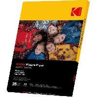 Consommables KODAK 9891263 - 25 feuilles de papier photo 180g-m2. brillant. Format A4 -21x29.7cm-. Impression Jet d'encre