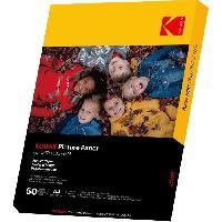 Consommables KODAK 9891264 - 50 feuilles de papier photo 180g-m2. brillant. Format A4 -21x29.7cm-. Impression Jet d'encre
