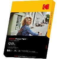 Consommables KODAK 9891267 - 50 feuilles de papier photo 230g/m². brillant. Format A4 (21x29.7cm). Impression Jet d'encre