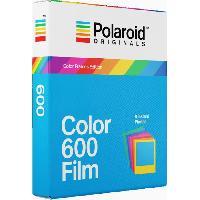 Consommables ORIGINALS Films instantanes couleurs avec cadres couleurs pour appareil photo Polaroid 600