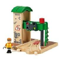 Construction - Modelisme - Maquette - Modele Reduit A Construire Brio World Station de Controle et d'Aiguillage - Accessoire pour circuit de train en bois - Ravensburger - Mixte des 3 ans - 33674