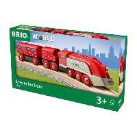 Construction - Modelisme - Maquette - Modele Reduit A Construire Brio World Train Aérodynamique  - Accessoire Circuit de train en bois - Ravensburger - Mixte des 3 ans - 33557