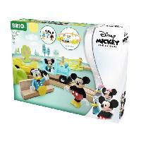 Construction - Modelisme - Maquette - Modele Reduit A Construire DISNEY Brio Circuit Mickey Mouse - Coffret complet 18 pieces - Circuit de train en bois - Ravensburger - Des 3 ans - 32277