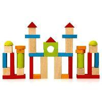 Construction - Modelisme - Maquette - Modele Reduit JEUJURA - Jeu de Construction en Bois. 40 Pieces