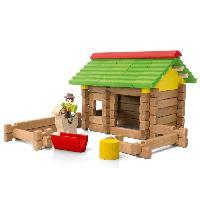 Construction - Modelisme - Maquette - Modele Reduit JEUJURA Mon Premier Chalet En Bois - 64 Pieces En Bois