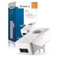 Construction Reseau DEVOLO CPL filaire 500 Mbit/s. 2 ports Fast Ethernet. Prise Filtrée Intégrée Modele 9291 dLAN 550 Duo+
