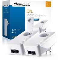 Construction Reseau DEVOLO Kit 2 CPL 500 Mbit-s. 2 ports Fast Ethernet. Prise Filtree Integree. Kit de demarrage 9298 dLAN 550 Duo+