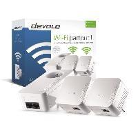 Construction Reseau DEVOLO Kit 2 CPL Wi-Fi 550 Mbit/s + 1 CPL filaire 550 Mbit/s- Modele 9639 dLAN 550 WiFi