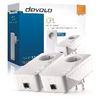 Construction Reseau DEVOLO dLAN 1200+ Starter kit - 2 adaptateurs CPL - 1200 Mbits-s