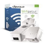 Construction Reseau DEVOLO dLAN 550 WiFi Starter kit  - 2 adaptateurs CPL - 500 Mbits/s