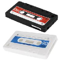 Coque - Bumper - Facade Telephone 1 Etui retro cassette iPhone 4-4S - Blanc- Bleu - ADNAuto