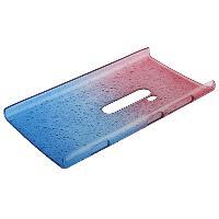 Coque - Bumper - Facade Telephone Coque Arriere de protection Gouttes d Eau pour Nokia Lumia 920 - Bleu-Rose - ADNAuto