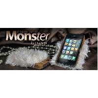 Coque - Bumper - Facade Telephone Coque Monster Fur - Creamy Camel - Pour iPhone 4 et 4S - ION - ADNAuto