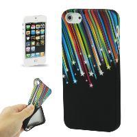 Coque - Bumper - Facade Telephone Coque arriere souple -Stars- pour Apple iPhone 5 - ADNAuto