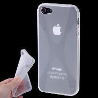 Coque - Bumper - Facade Telephone Coque arriere souple -X-Shaped- pour Apple iPhone 5 - Transparente - ADNAuto