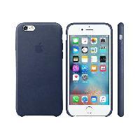 Coque - Bumper - Facade Telephone Coque en cuir pour iPhone 6s - Bleu nuit