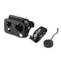 Coque - Housse - Etui Photo - Optique GP402 Etui de Protection Simili-cuir pour GoPro Hero4 3 + - Noir