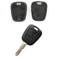 Coques de clefs Coque Cle Adaptable Pour Peugeot 2 Boutons Cle A Dent