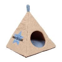 Corbeille - Panier - Coussin - Hamac BUBIMEX Niche Pyramide en jute 40 x 40 x 40 cm - Beige - Pour chat