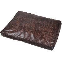 Corbeille - Panier - Coussin - Hamac Coussin rectangle Chesterfield - Polyester - 100 x 70 x 10 cm - Chocolat - Pour chien