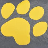 Corbeille - Panier - Coussin - Hamac Coussin rectangle Dog Paw dehoussable - Polyester - 60 x 45 x 8 cm - Jaune