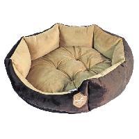 Corbeille - Panier - Coussin - Hamac Panier octogonal 50cm - Chocolat et taupe - Pour chien