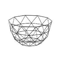 Corbeille - Paniere FRANDIS Corbeille a fruits triangles - 26x26x14cm - Noir mat