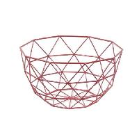 Corbeille - Paniere FRANDIS Corbeille a fruits triangles - 26x26x14cm - Rouge mat