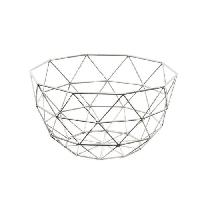 Corbeille - Paniere FRANDIS Corbeille a fruits triangles -36 x 26.8 x 12.4 cm - Métal chrome