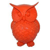 Corbeille - Paniere HOMEA Chouette deco en polyresine 21x20.5xH28 cm rouge - Generique